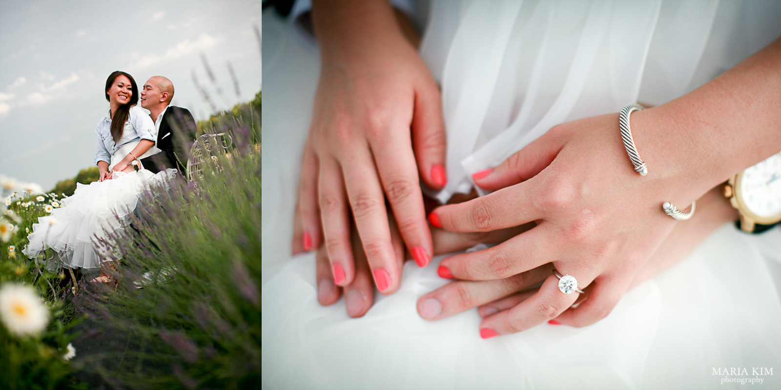 Ed and Kim | Seven Oaks Lavender Farm | Engagement Photography