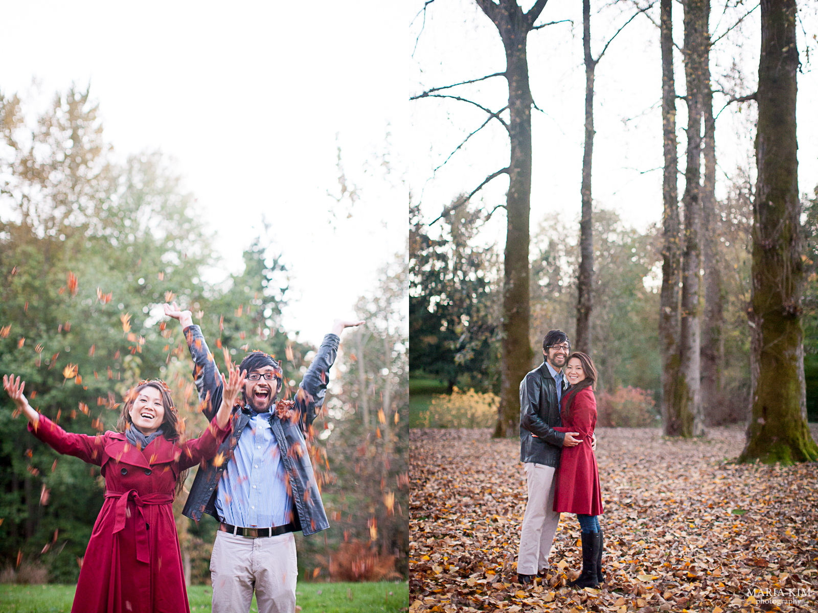 Maria Kim Vancouver Queen Elizabeth Park Fall Couples Portrait